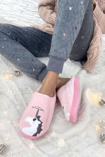 papuce s jednorozcem