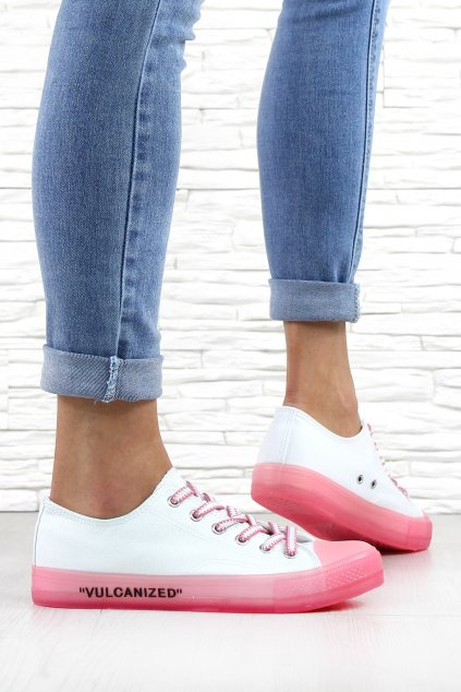 Bílé plátěné tenisky J06 1FUS (1)