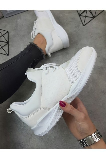 BY 069 WHITE Dámské bílé tenisky (4)