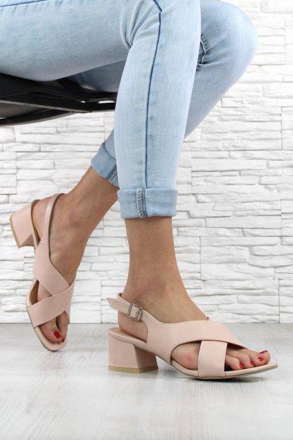 Sandálky na širokém podpatku 9252 20PI (2)