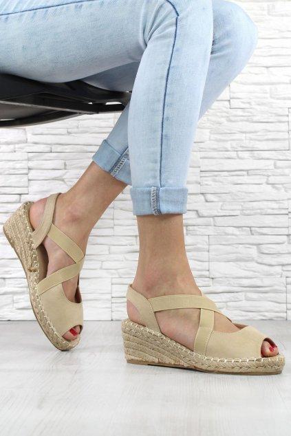 Sandály na klínku 1556 14BE (2)