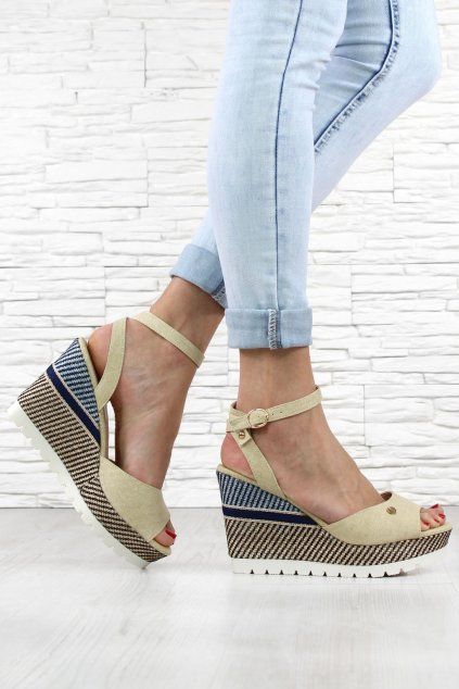 Dámské sandály na klínku 6107 14BE (1)