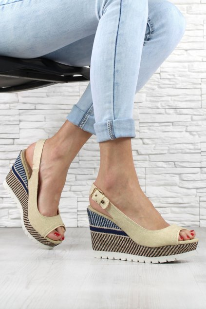 Sandálky na platformě 6105 14BE (1)