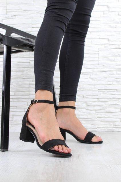 Černé sandály na podpatku 1557 1B (1)