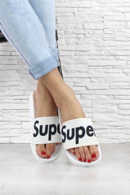 Gumové pantofle Super G 568 02WH (1)