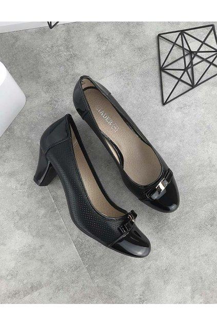 C3537 BLACK Černé lodičky (1)