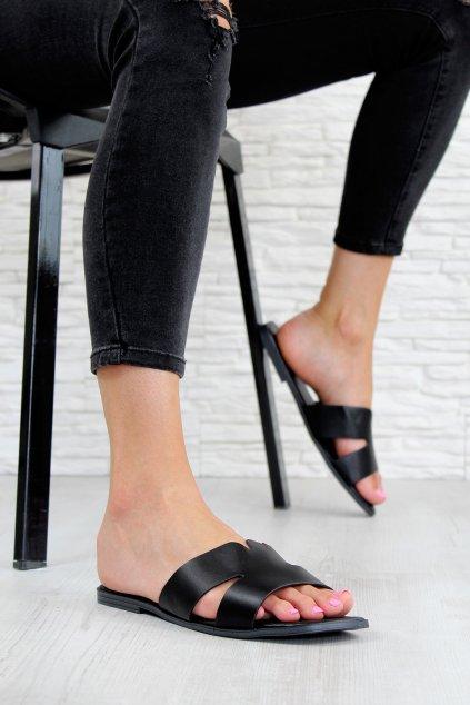 709 1B Dámské pantofle s rovnou špičkou (1)