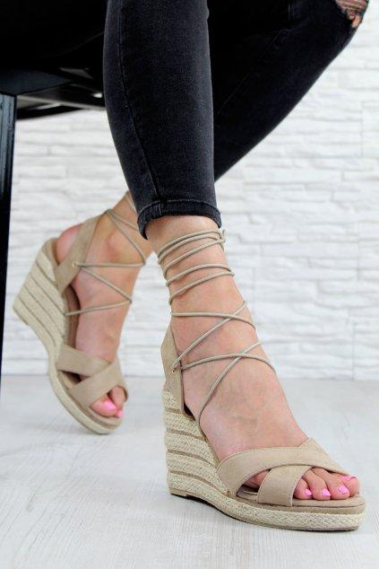 8145 14BE Sandály na platformě (1)