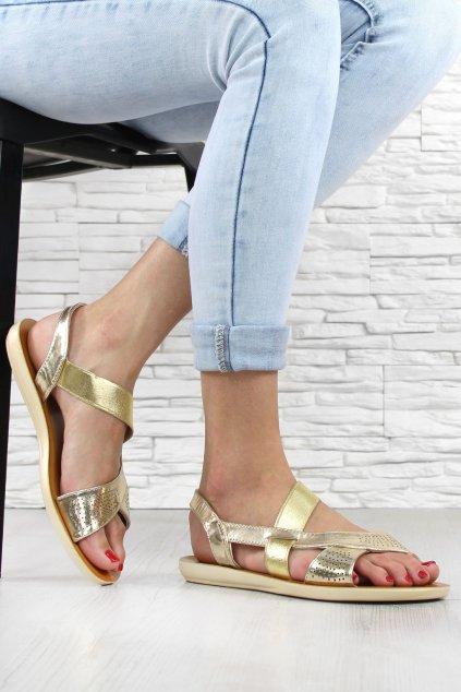 Zlaté sandály RW 1728GO (1)