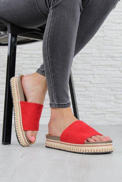 691 2R Červené pantofle (3)