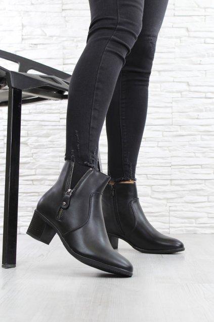 Kotníkové boty na podpatku 6312 1B (1)