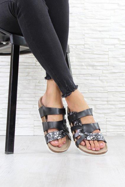 Černé pantofle 4907B (1)