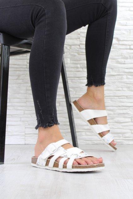 Bílé pantofle 4907WH (2)