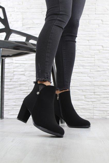 Podzimní boty na podpatku CK52B (3)