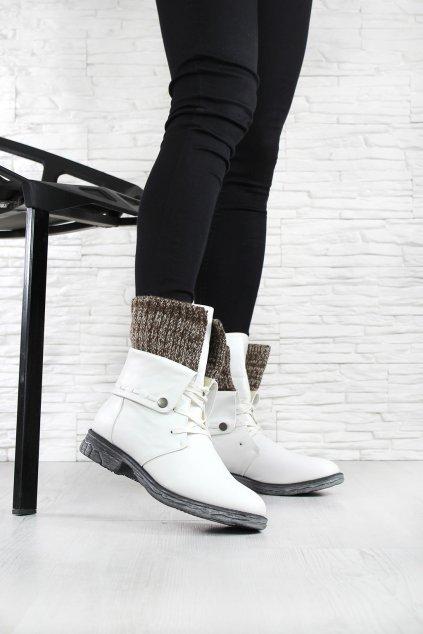 Bílé zimní boty 2077WH (2)