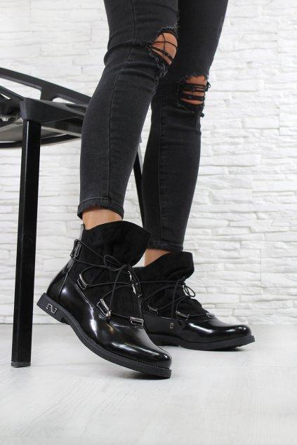 Dámské černé boty 6705-1B