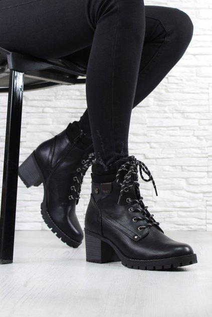 Dámské boty na podpatku 4020 1B (1)