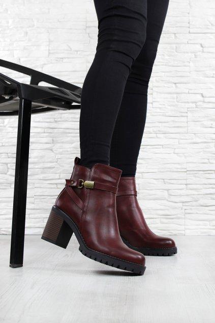 Dámské boty na podpatku 4018 2W (1)