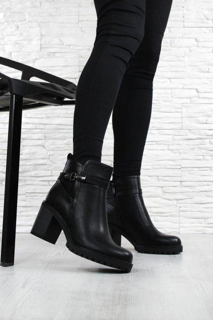 Dámské boty na podpatku 4018 1B (4)