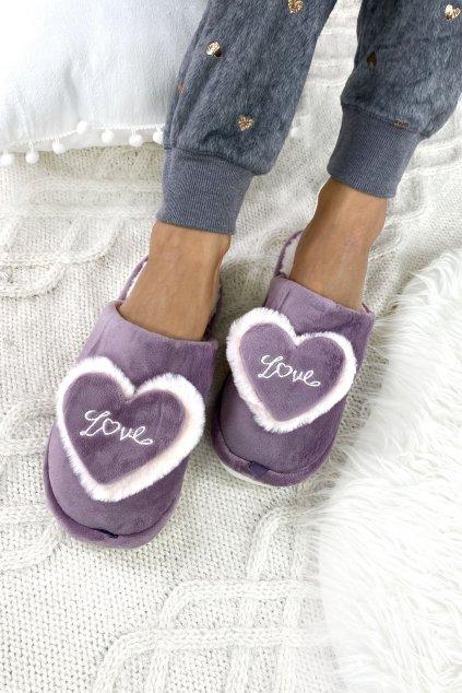 papuce fialove love