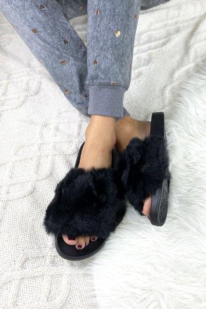 pantofle chlupate