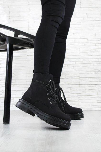 Kotníkové boty černé D001B (3)