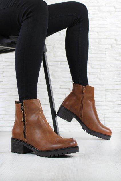 Dámské hnědé boty G 7611CA (1)