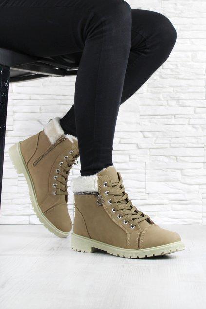 Kotníkové boty s kožíškem TL45 14CA (4)