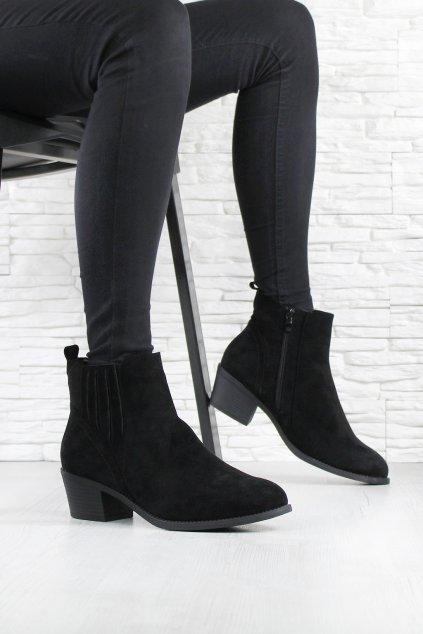 Dámské boty na podpatku 2411 1B (1)