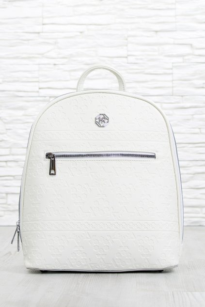 Elegantní bílý batoh 5388 BB (1)