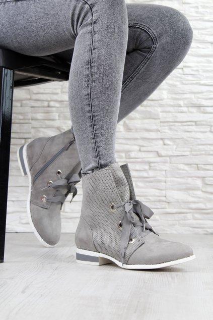 Šedé podzimní boty HX17018 13 1G (2)