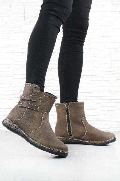 Dámské zimní boty 6459BR (2)