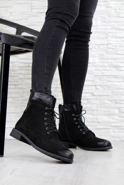 SG 102B Černé kotníkové boty (3)