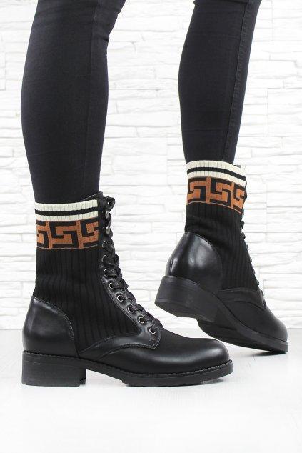 Kotníkové šněrovací boty 20211 1B (2)
