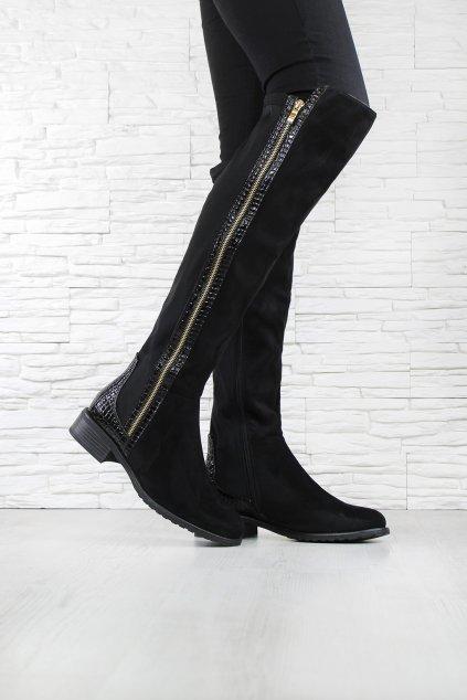 Kozačky nad kolena DA02B (1)