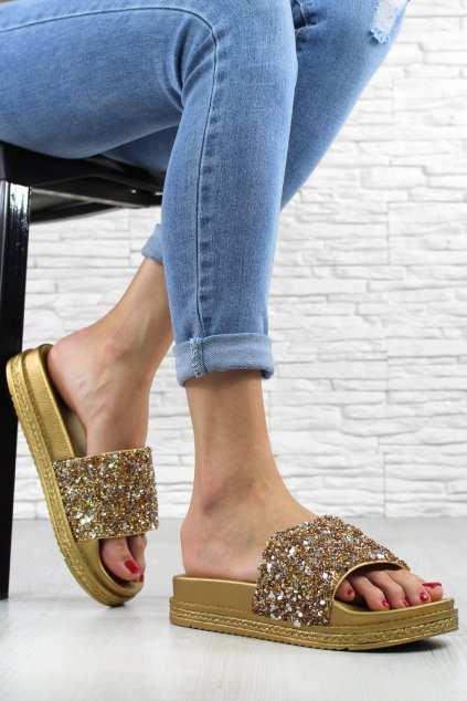 Dámské pantofle SS119GO (1)