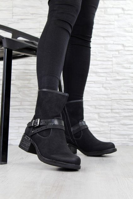 Zimní boty na nízkém podpatku 7 Y9773C (3)