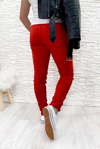 Cervene stylove kalhoty