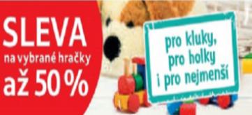 Sleva až 50 % na vybrané hračky