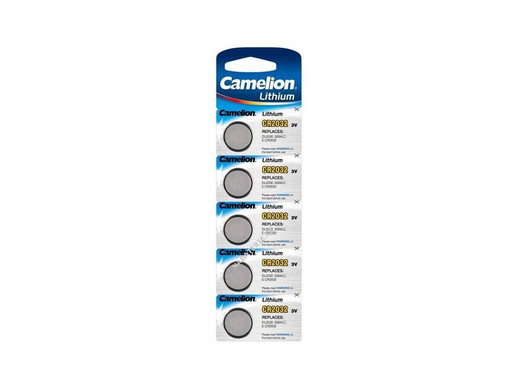 litiovy knoflikovy clanek baterie camelion cr2032 pro pokemon go plus 5ks baleni original