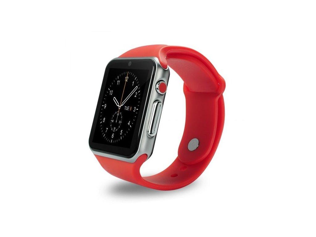Smart watch chytré hodinky A1 barva červená