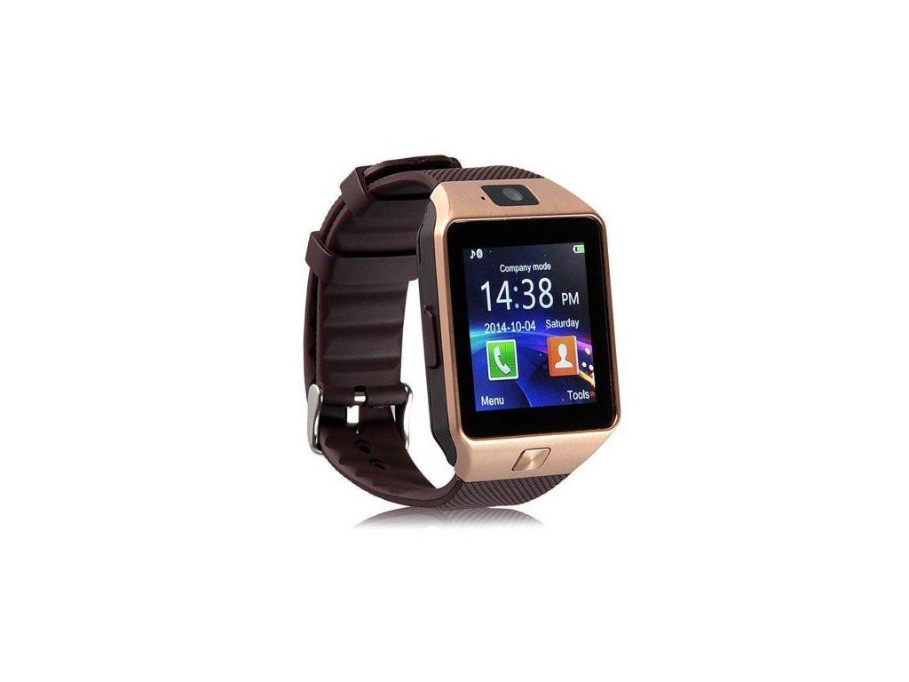 Smart watch chytré hodinky DZ09 barva zlatá