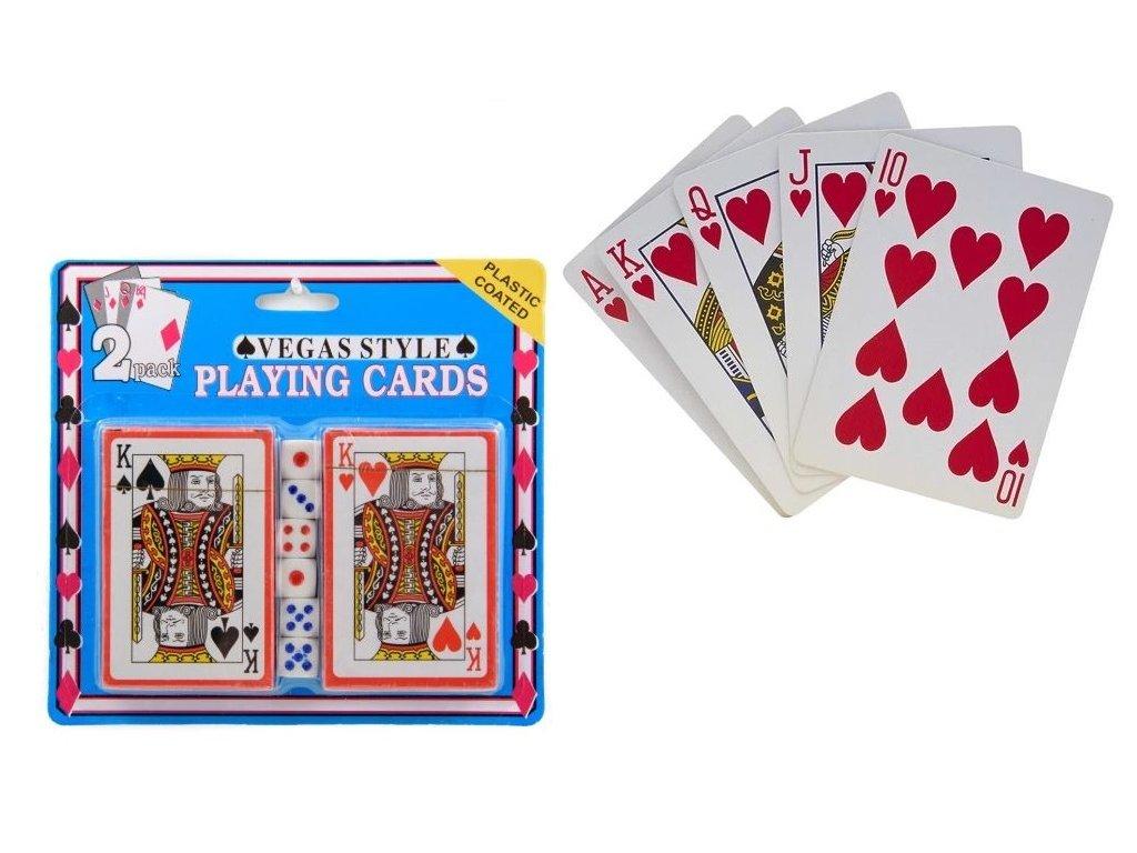 7791 2 hraci karty s kostkami