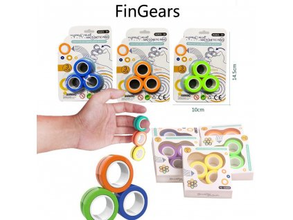 20 Set FinGears Magnetic Rings Fidget Spin Toys Stress Relief Autism ADHD Anxiety Focus Decompression Gathering