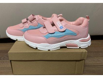 tenisky fashiontxie barva růžovo-modrá