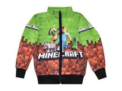 Mikina Minecraft zelená