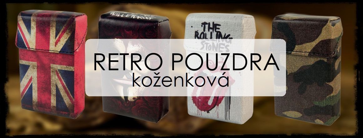 KLIKNĚTE - retro pouzdra koženková