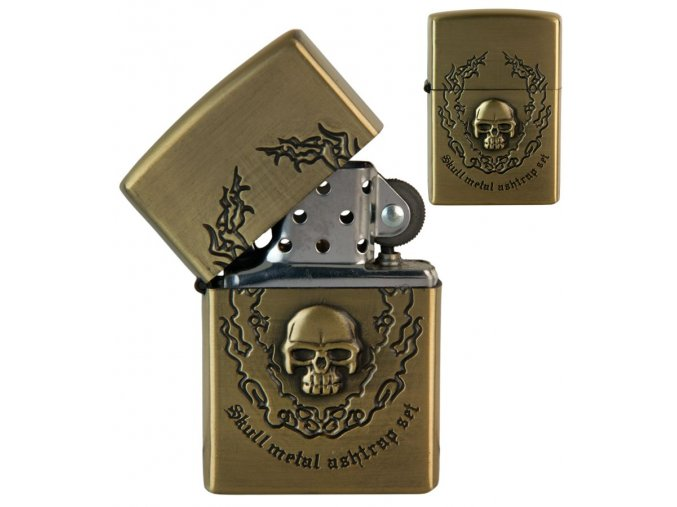 oil lighter skull symbols 032