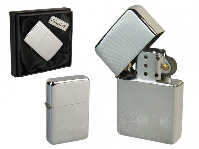 Benzínový zapalovač ALASKA CASE v papírové krabičce 03
