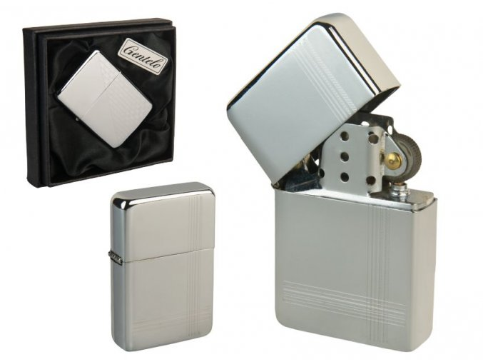 Benzínový zapalovač ALASKA CASE v papírové krabičce 04